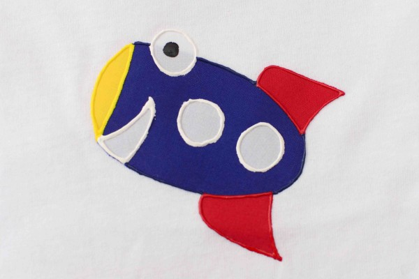 Rocket Ship Applique Shirt