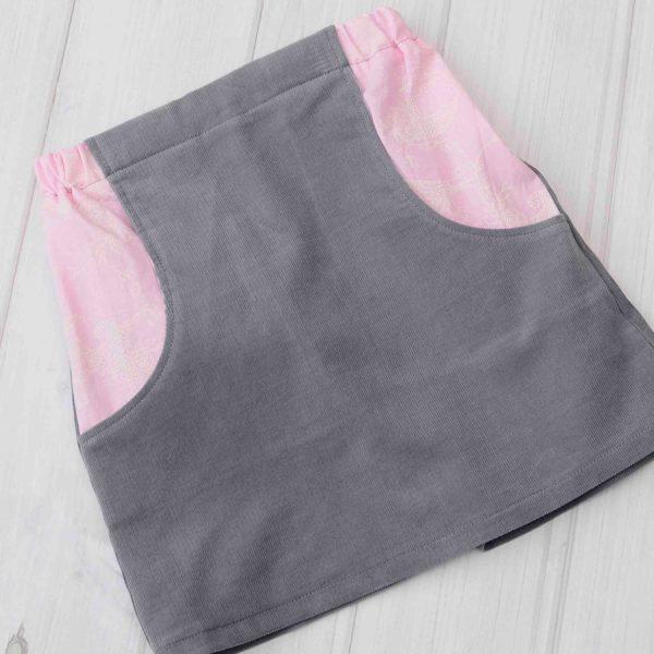 Gray Corduroy Skirt