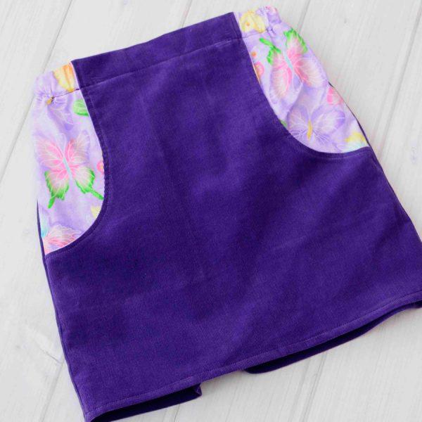 Purple Corduroy Skirt