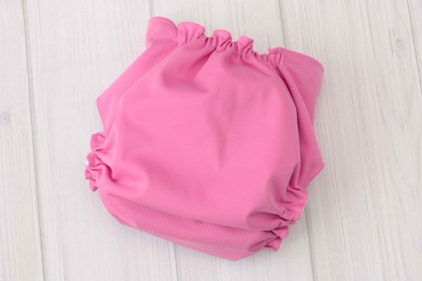 Pink & White Cloth Diaper Cover
