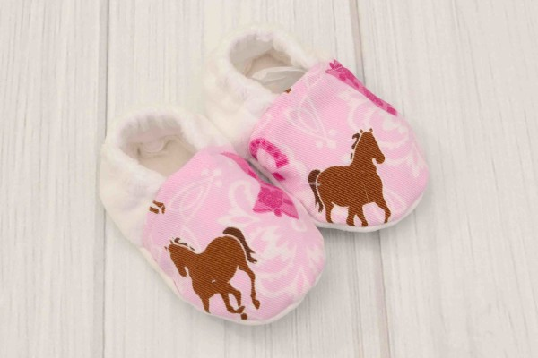 Pink Western Baby Shoes