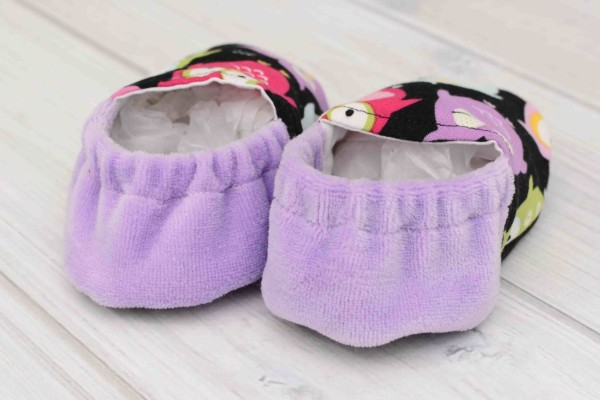 Purple Owls Baby Shoes