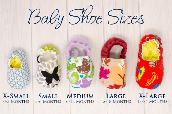 Baby Shoe Size Comparison