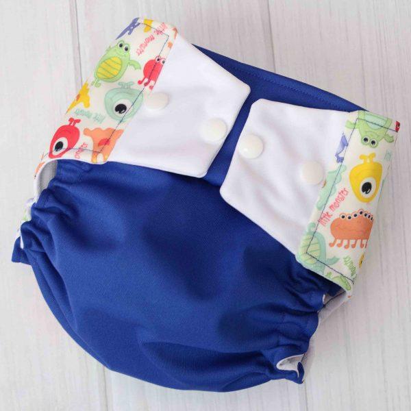 Blue Monster Diaper