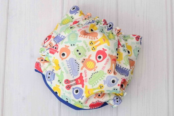 Blue Monsters Cloth Diaper Cover