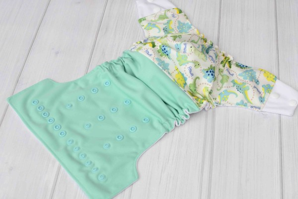 Aqua Dinosaur Cloth Diaper Cover