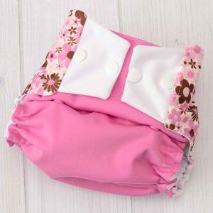 Pink Flowers Diaper