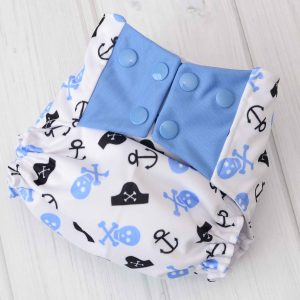 Pirate Cloth Diaper Cover