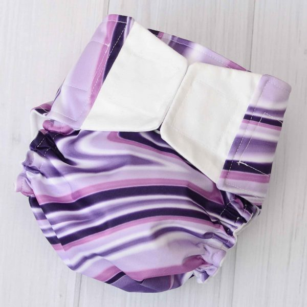Purple Swirl Diaper