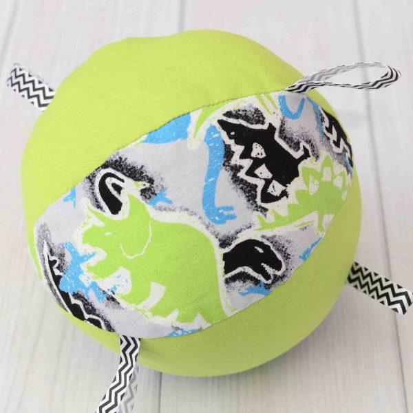 Green Dinosaur Rattle Ball