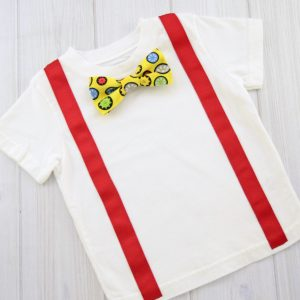 Yellow Gears Bow Tie Shirt