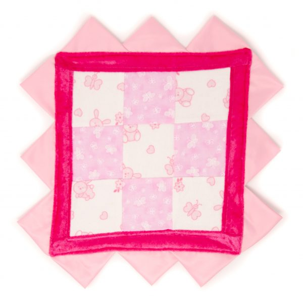 Pink Butterfly and Bunny Sensory Blanket Toy