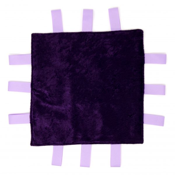 Purple Stripe Sensory Blanket Toy