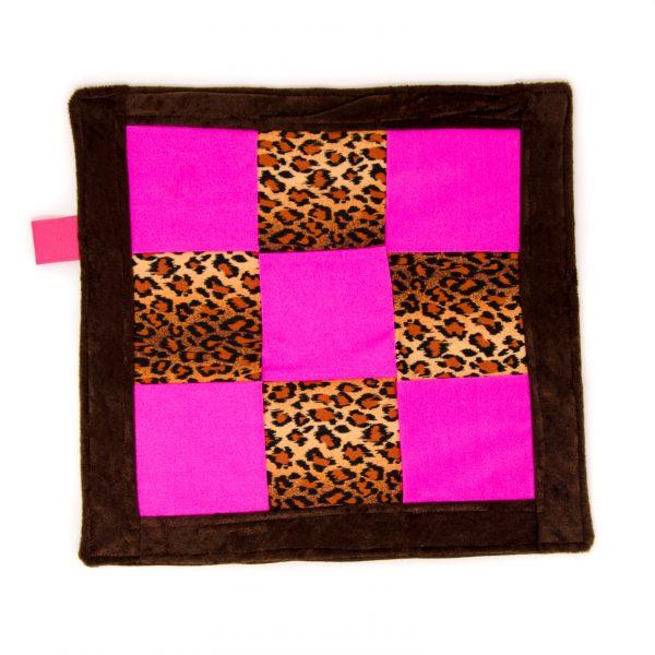 Pink Cheetah Sensory Blanket Toy