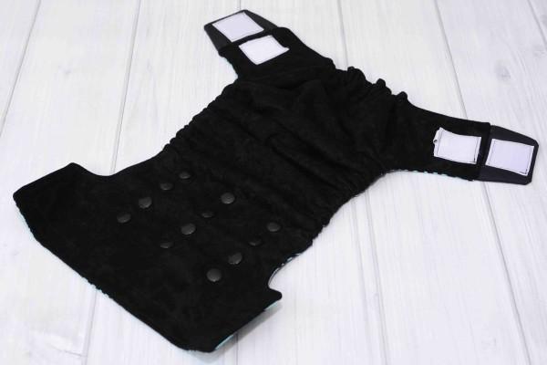 Teal Zebra Cloth Diaper Cover