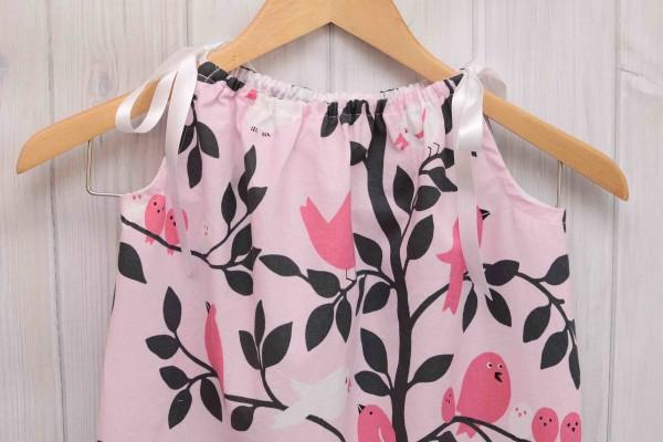Pink Birds Pillowcase Dress