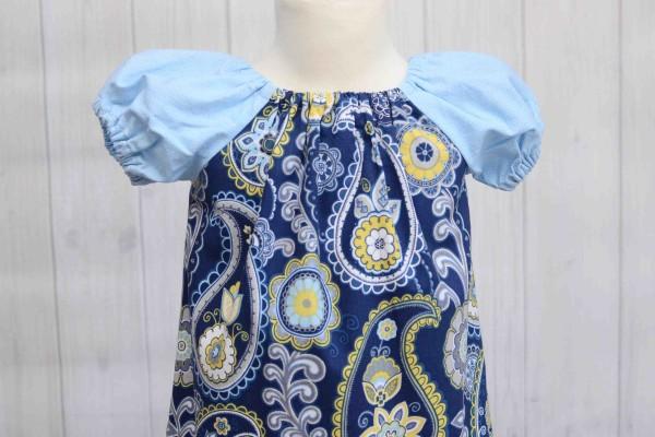 Blue Peasant Dress