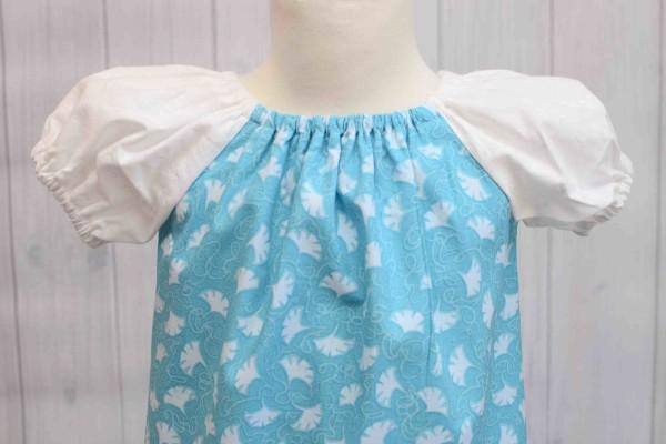 Aqua Peasant Dress