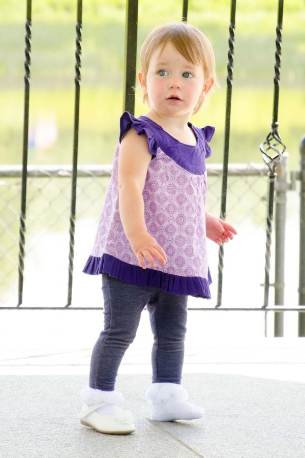 Belle - Purple Swing Top