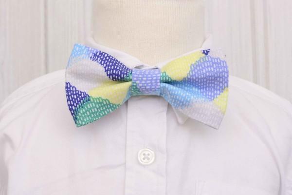 Blue Scallops Bow Tie