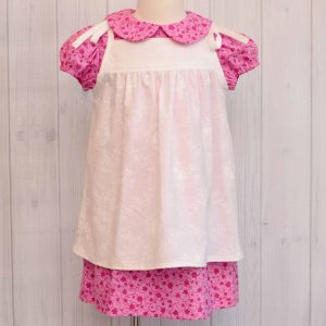 Pink Dress with Pinafore