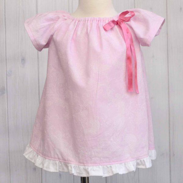 Pink Peasant Dress