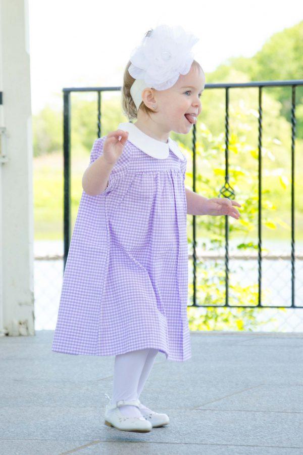 Piper - Purple Gingham Dress