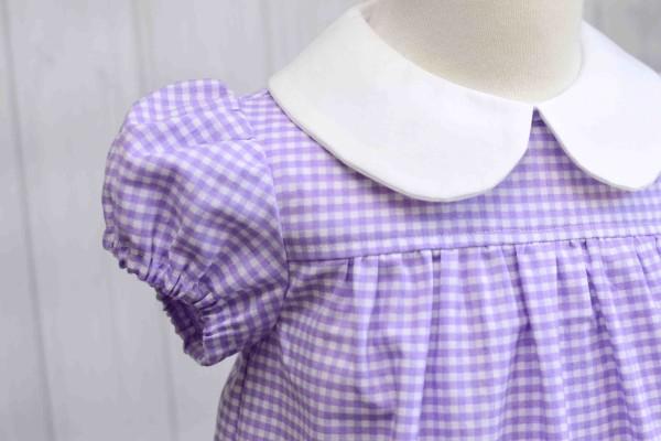 Purple Gingham Dress