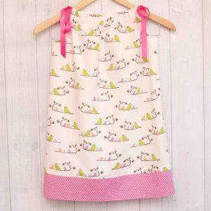 White Birds Pillowcase Dress