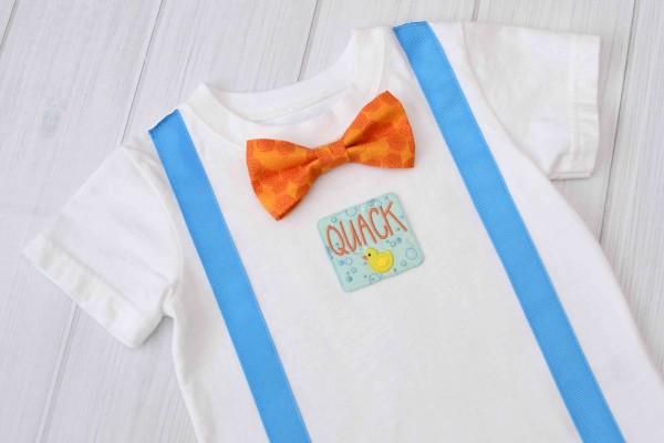 Duck Suspender & Bow Tie Shirt