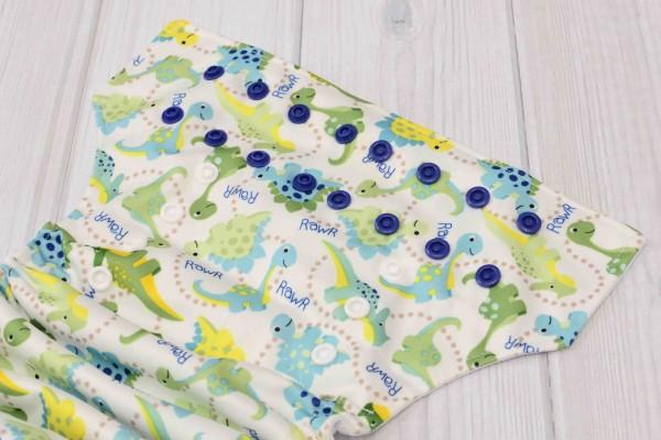 Blue Dinosaur Cloth Diaper Cover