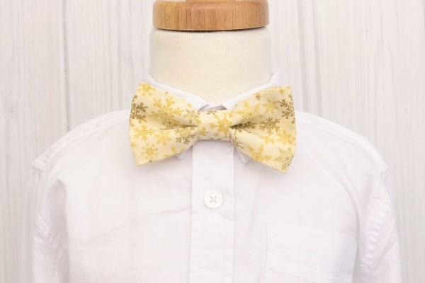 Gold Snowflake Bow Tie