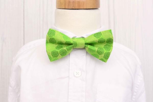 Green Swirl Bow Tie