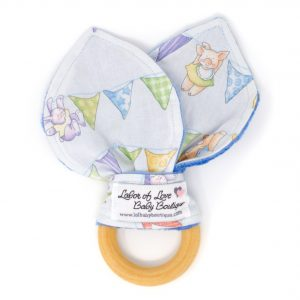 Animal Bunting Teething Ring