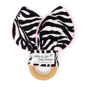 Zebra Teething Ring