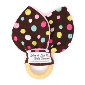 Brown Dots Teething Ring