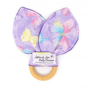 Purple Butterfly Teething Ring