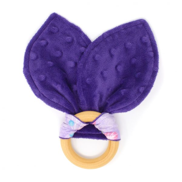 Purple Butterfly Teething Ring