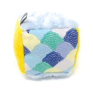 Blue Scallops Rattle Block