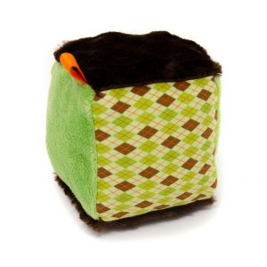 Green Argyle Rattle Block