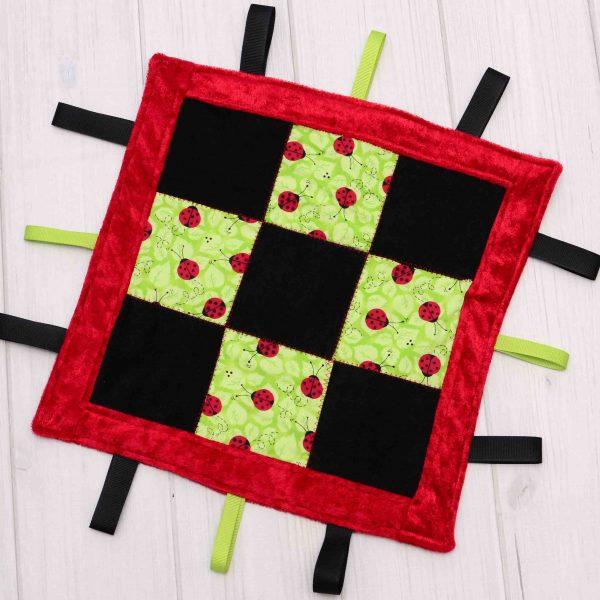 Ladybug Sensory Blanket Toy