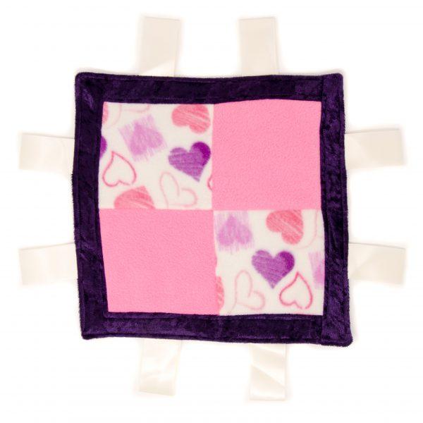 Hearts Sensory Blanket Toy
