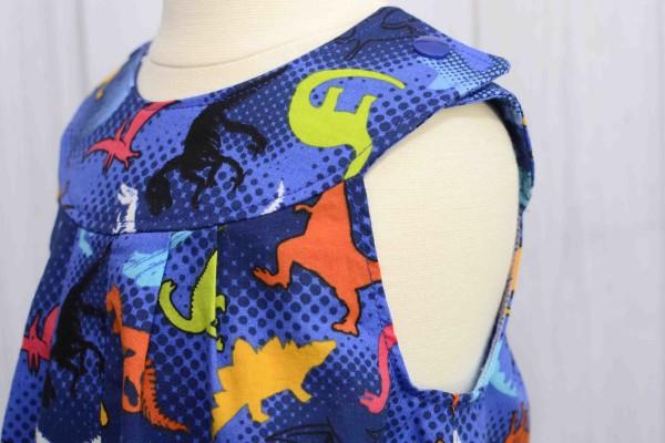 Blue Dinosaur Romper