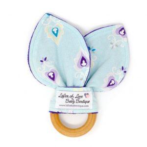 Aqua & Purple Teething Ring