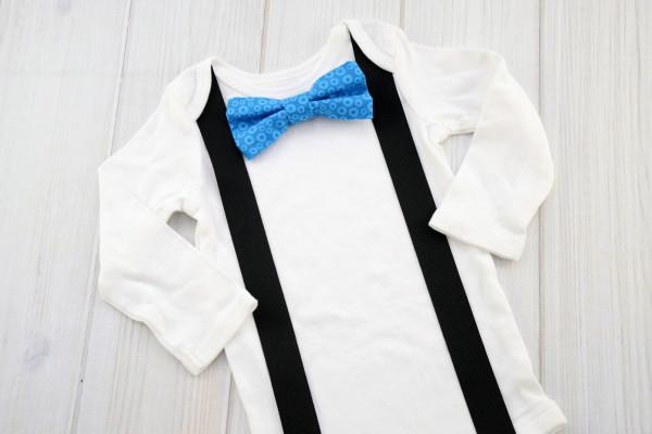 Blue Gears Bow Tie Shirt