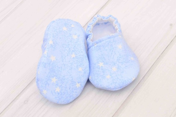 Blue Stars Baby Shoes