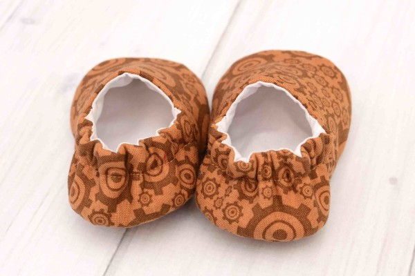 Brown Gears Baby Shoes