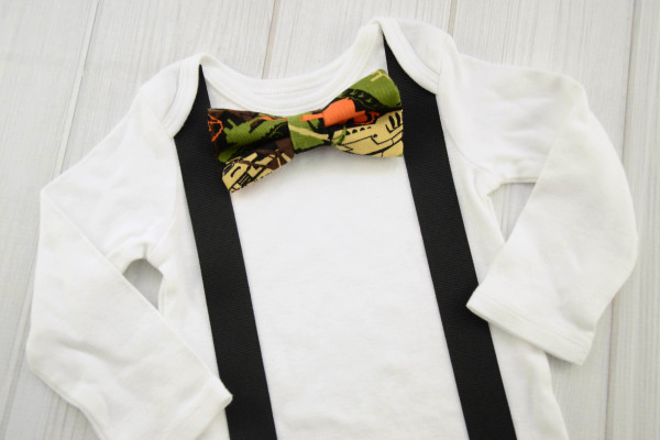 Camo Bow Tie Shirt