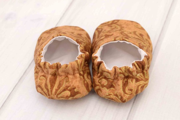 Gold Baby Shoes