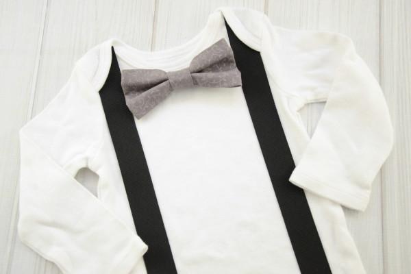 Gray Vines Bow Tie Shirt